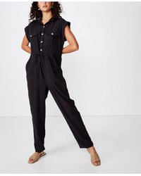 Cotton On Woven Isabella Utility Jumpsuit - Black
