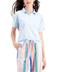 Style & Co. Petite Polo Shirt, Created For Macy's - Blue