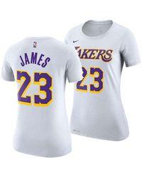 1364e33fe Lyst - adidas Originals Women s Los Angeles Lakers Mesh Arch Outline ...