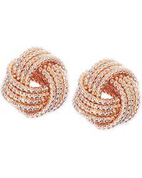 Nine West - Gold-tone Knot Stud Earrings - Lyst
