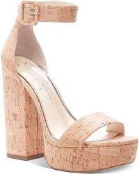 d147f051375e23 Jessica Simpson - Caiya Platform Sandals - Lyst