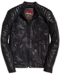 Superdry - New Hero Leather Racer Jacket - Lyst