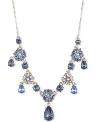 "Marchesa Gold-tone Crystal & Imitation Pearl Flower Statement Necklace, 16"" + 3"" Extender - Metallic"