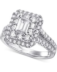 Macy's Diamond Statement Ring (1-3/4 Ct. T.w.) In 14k White Gold - Multicolour