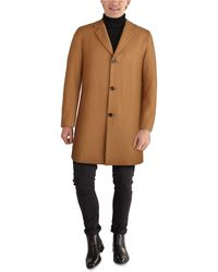 Cole Haan Melton Classic-fit Topcoat - Natural