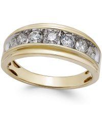 Macy's - Men's Diamond Band (1/2 Ct. T.w.) In 10k Gold - Lyst