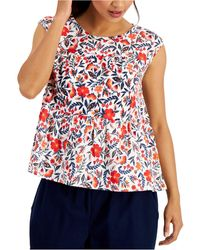 Style & Co. Cotton Tiered Tank Top, Created For Macy's