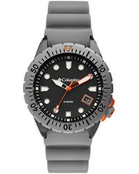 Columbia Pacific Outlander Gray Silicone Strap Watch 42mm