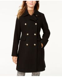 Vince Camuto - Petite Double-breasted Peacoat - Lyst