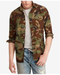 Polo Ralph Lauren - Big & Tall Camo Oxford Long-sleeve Woven Shirt - Lyst