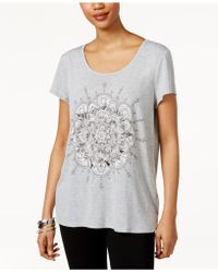 Style & Co. - Lotus-graphic T-shirt - Lyst