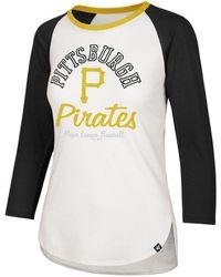 47 Brand Pittsburgh Pirates Vintage Raglan T-shirt - White