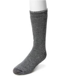 Muk Luks Heat Retainer Socks - Gray