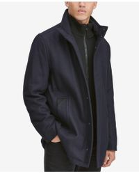 Marc New York - Car Coat With Knit Inset - Lyst