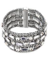 Nicole Miller Woven Magnetic Bracelets - Metallic