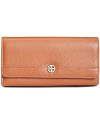 Giani Bernini - Pebble Leather Receipt Wallet, Created For Macy's - Lyst