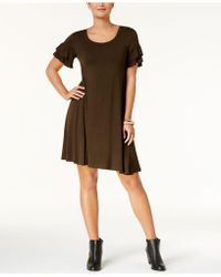 Style & Co. - Ruffle-sleeve Fit & Flare Dress - Lyst