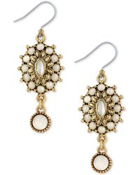 Lucky Brand - Squash Blossom Mother-of-pearl Drop Earrings - Lyst