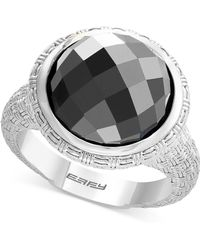Effy Collection - Hematite (12mm) Statement Ring In Sterling Silver - Lyst