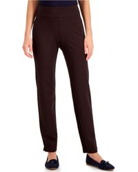 Charter Club Pull-on Ponté-knit Pants, Created For Macy's - Brown
