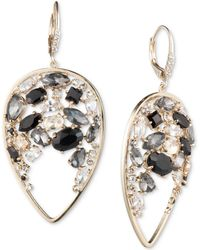 Carolee - Gold-tone Crystal & Stone Cluster Drop Earrings - Lyst