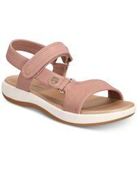 Giani Bernini Foyla Memory-foam Platform Sandals, Created For Macy's - Pink