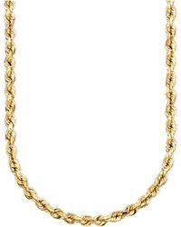 "Macy's 14k Gold Diamond-cut Rope Chain 18"" Necklace (2-1/2mm) - Metallic"