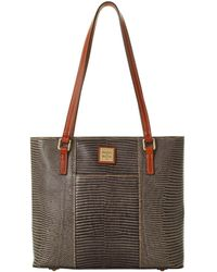 Dooney & Bourke Lizard-embossed Leather Small Lexington Tote, Created For Macy's - Multicolour