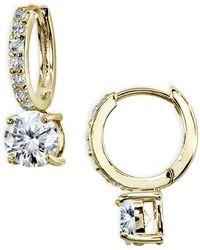 Giani Bernini Cubic Zirconia Huggie Hoop Earrings In 18k Gold Plated Sterling Silver - Yellow