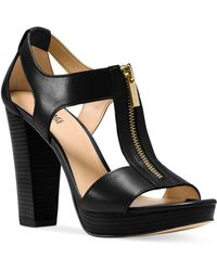 Michael Kors - Berkley T-strap Platform Dress Sandals - Lyst