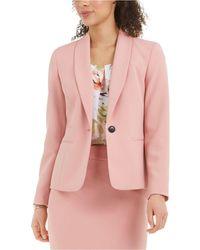 Nine West Textured Shawl-collar Blazer - Pink