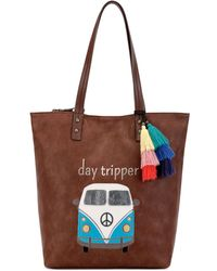 The Sak Palisade Reversible Tote, Created For Macy's - Brown