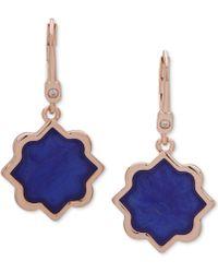 Ivanka Trump - Rose Gold-tone Stone Drop Earrings - Lyst