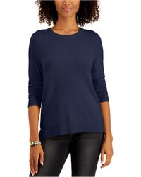 Style & Co. Crewneck Sweater, Created For Macy's - Blue