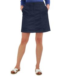 Karen Scott Petite Ribbed-waistband Skort, Created For Macy's - Blue