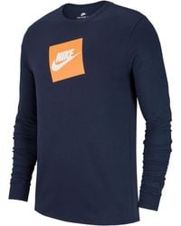 050657ab Nike - Sportswear Futura Shoebox Logo Long-sleeve T-shirt - Lyst