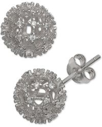Giani Bernini - Cubic Zirconia Fireball Stud Earrings In Sterling Silver, Created For Macy's - Lyst