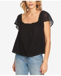 1.STATE - Square-neck Eyelet Top - Lyst