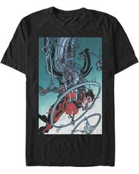 Fifth Sun Superman Luther's Kid Comic Poster Short Sleeve T-shirt - Black