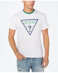 828e9774 Guess Logo T-shirt in White for Men - Lyst