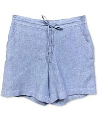 Charter Club Pull-on Shorts, Created For Macy's - Blue