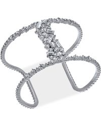 INC International Concepts | Silver-tone Crystal Open Cuff Bracelet, Created For Macy's | Lyst