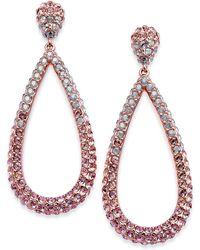Danori - Silver-tone Ombré Crystal Teardrop Drop Earrings - Lyst