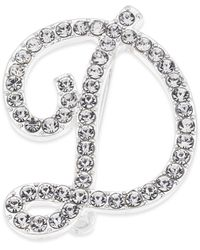 Charter Club Silver-tone Pavé Initial Pin, Created For Macy's - Metallic