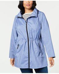 32 Degrees - Plus Size Hooded Waterproof Anorak Raincoat - Lyst