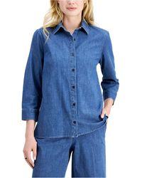 Kasper Denim Shirt - Blue