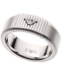 Armani Stainless Steel Ring Band - Metallic
