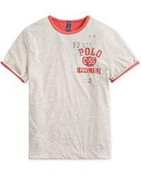 3a1eee9e Lyst - Polo Ralph Lauren Wimbledon Custom Slim T-shirt in Gray for Men