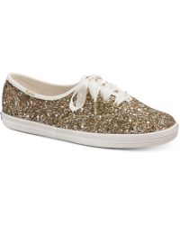 Kate Spade - Keds For Glitter Lace-up Trainers - Lyst