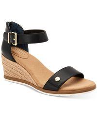 Giani Bernini Daytonn Wedge Sandals, Created For Macy's - Black